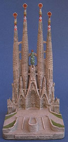 Sagrada Familia in alabaster