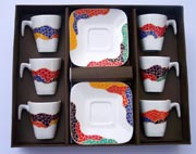 Set of 6 rencadis coffee cups